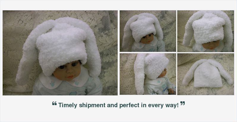 #Crocheted #Newborn Baby #Bunny Hat Soft Fluffy #handmade #alexpals #etsygifts