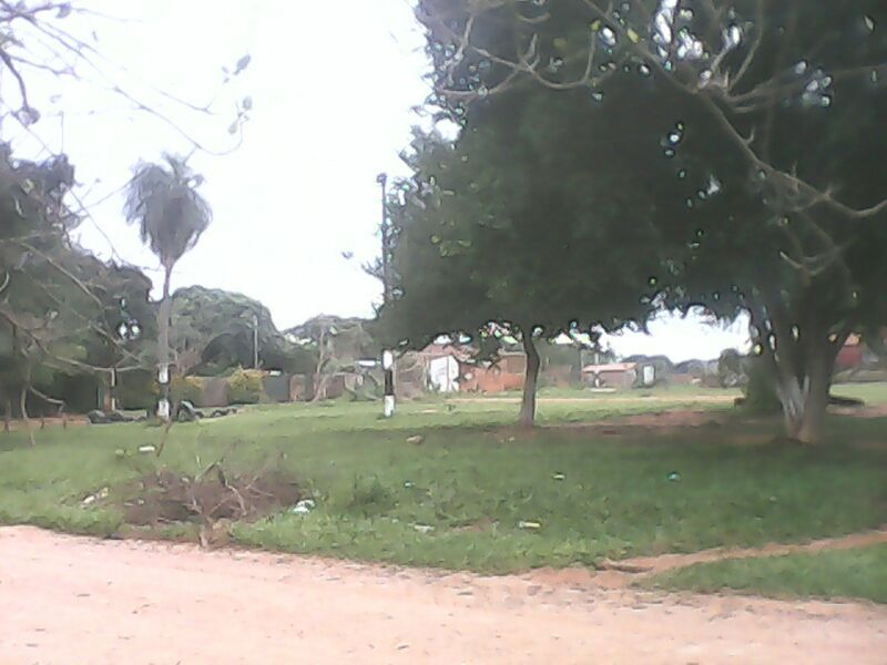 La plaza del barrio, el punto de encuentro y centro de actividades del barrio, justo frente a mi casa