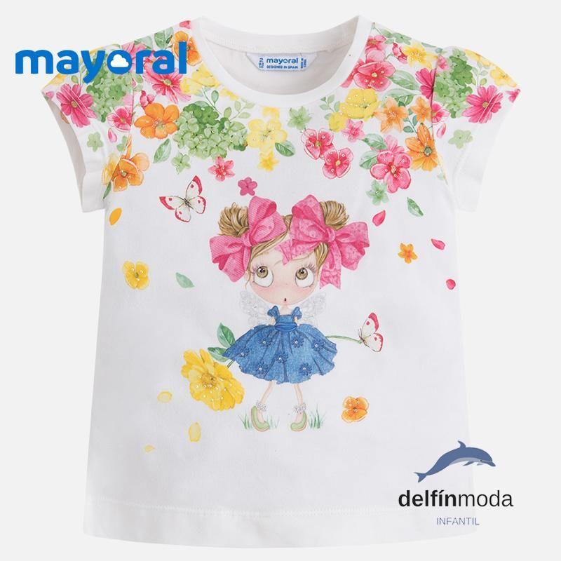 0a396bb53 Camiseta de niña MAYORAL manga corta