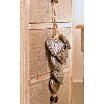 Beautiful Bunch of Hanging Hearts Metal, Romantic #Wedding #Home #Garden www.prettymaison.co.uk 01353 665141