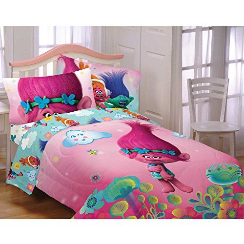 """Valance, Curtain Panel, Pillow Cover, Tie Back """"Trolls"""""""