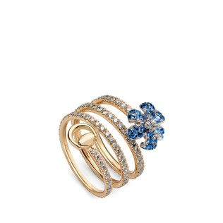Gucci Flora ring with sapphires XFBiQ
