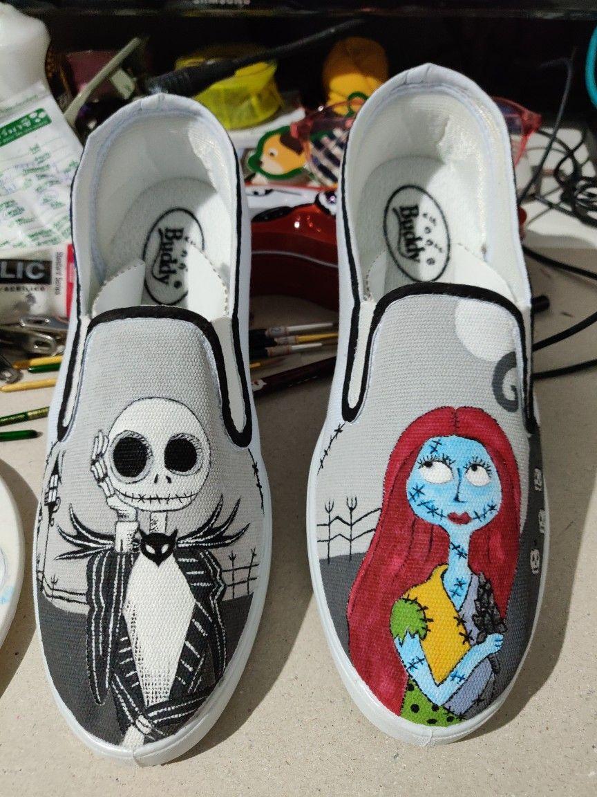 Nightmare Before Christmas Shoes Diy.My Diy Nightmare Before Christmas Shoes Painting Made To