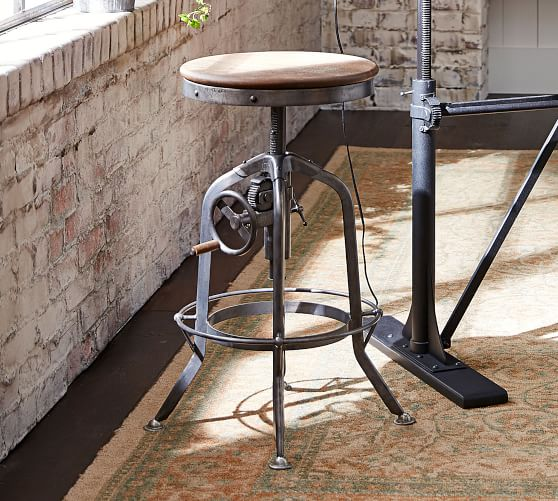 Pittsburgh Adjustable Height Bar Stool Pottery Barn In