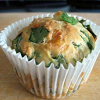 Feta, Cheddar, and Spinach Muffins by I Like Ginger Biscuits