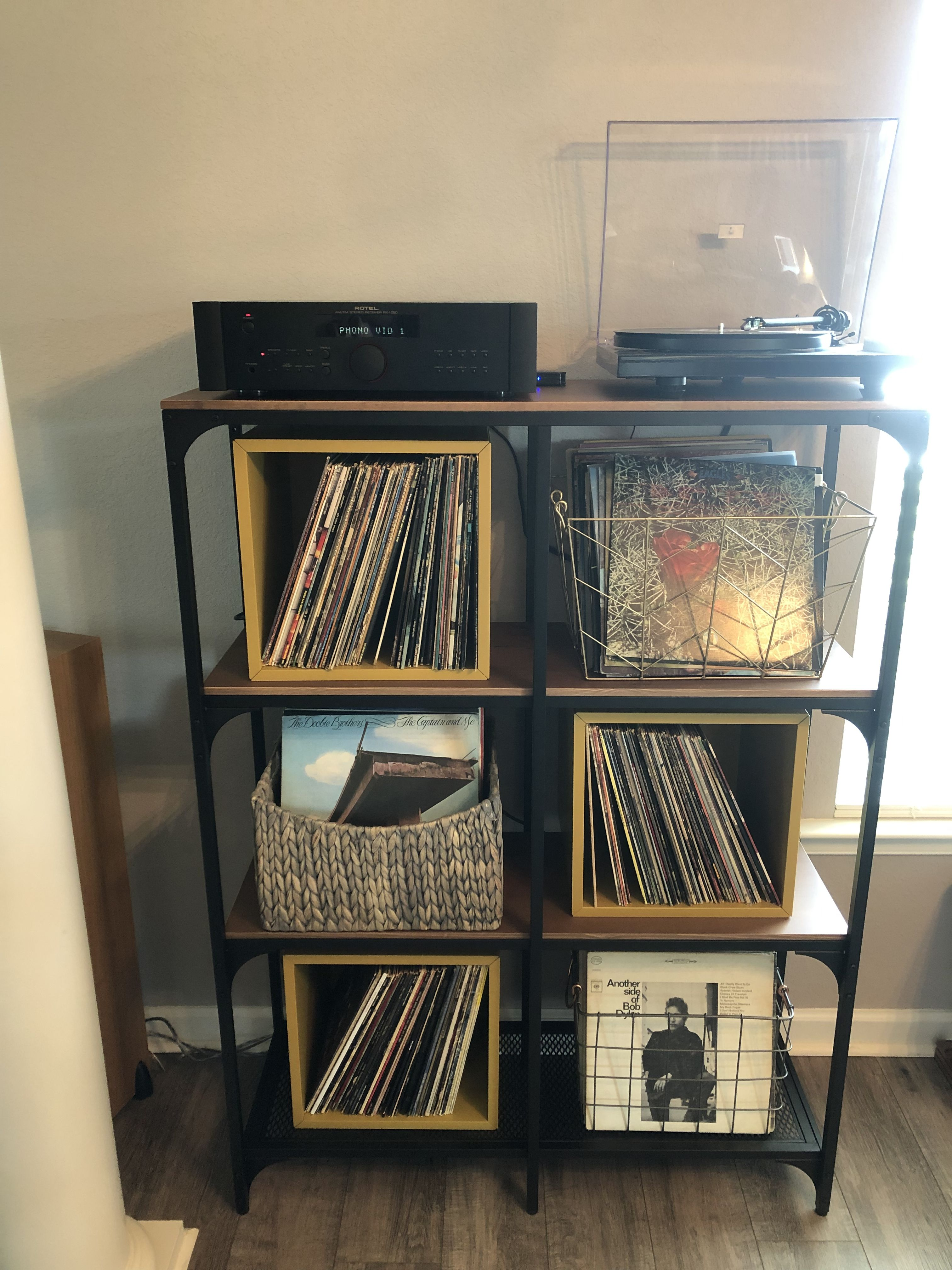 Record Player And Record Storage Shelving Record Storage Ikea Living Room Diy Interior
