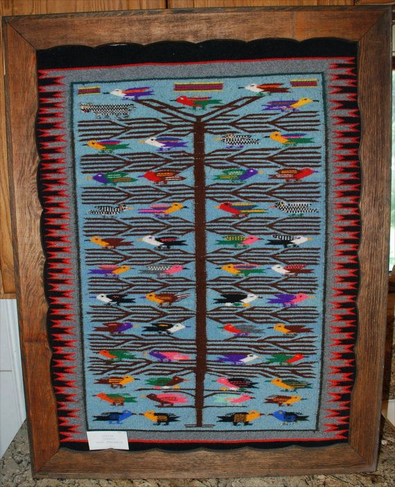 Navajo Rug Bird Rug By DennehotsoCollection On Etsy