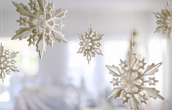 3-D Snowflake Mobil Winter Christmas Party Decoration