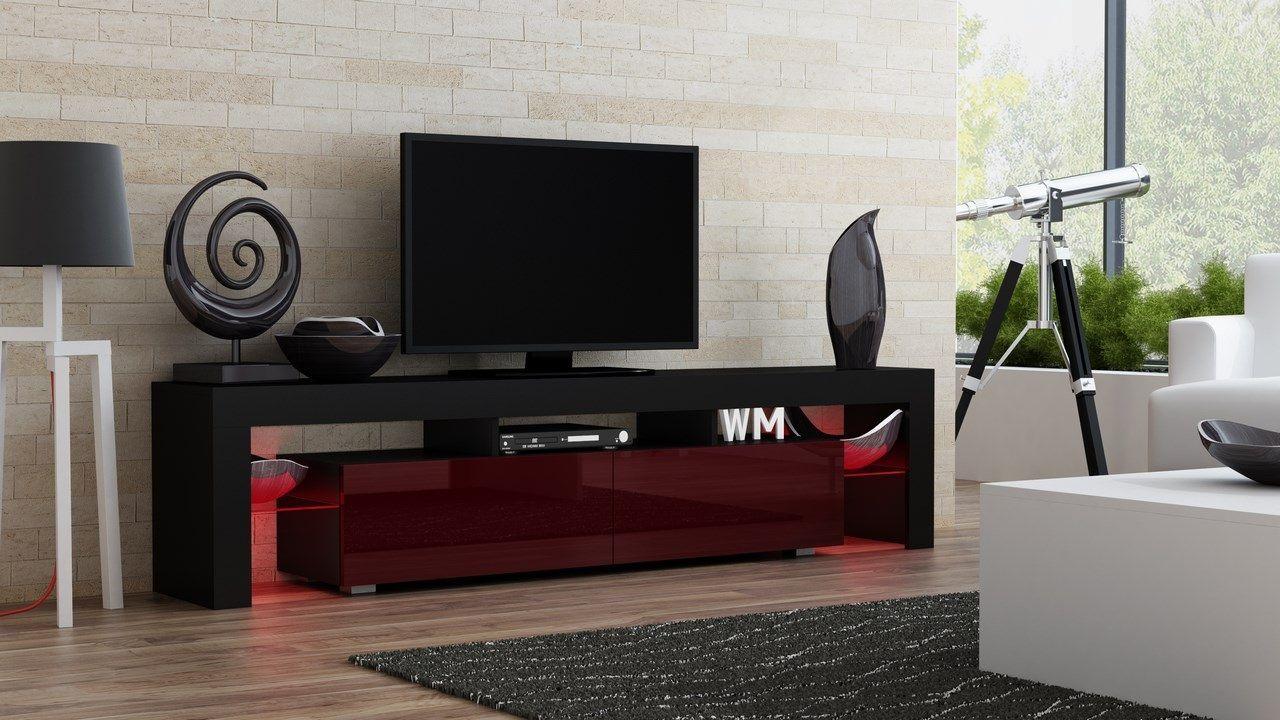 Milano 200 Noir Meuble Tv Mobilier De Salon Meuble Et Meuble Tv Design