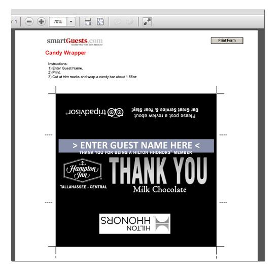 Make sure you make your loyal rewards members feel extra special - self review template