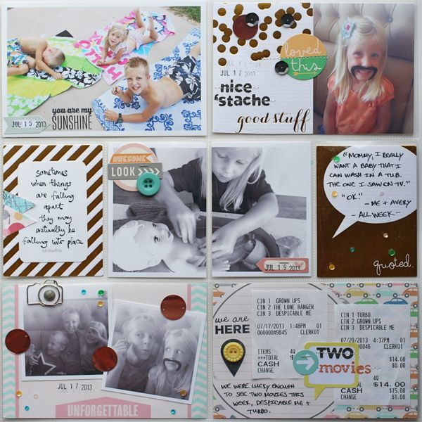 I like the idea of splitting a picture in half and journaling on either side of it. Need to remember..