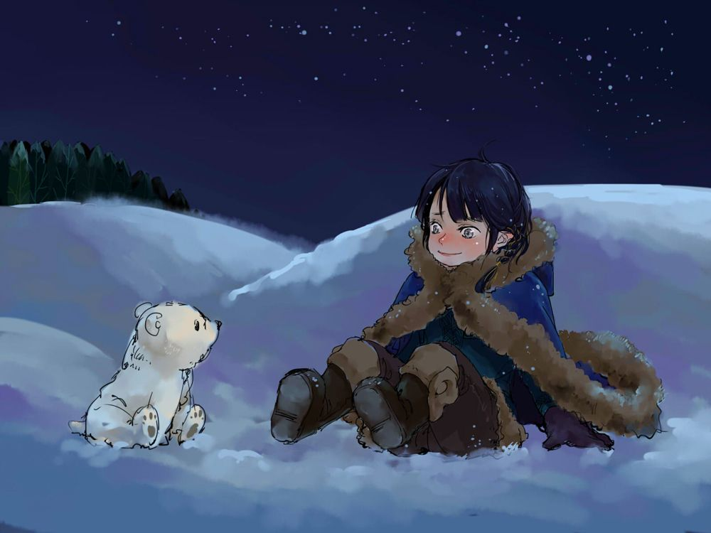 little Fingon and little polar bear by luthienelf.deviantart.com on @DeviantArt so much littles Fingons everywhere <3