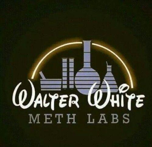 Walter White Meth Labs Disney Logo Style
