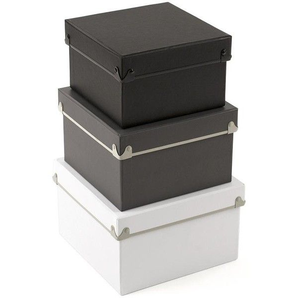 Stackable Boxes Home Decor Hadley Nested Boxes  Set Of 3 $29 ❤ Liked On Polyvore