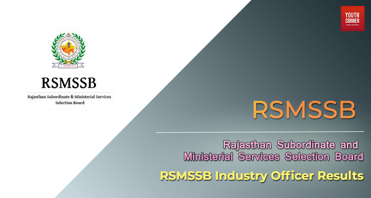 RSMSSB Industry Officer Results 2018 RSMSSB Industry