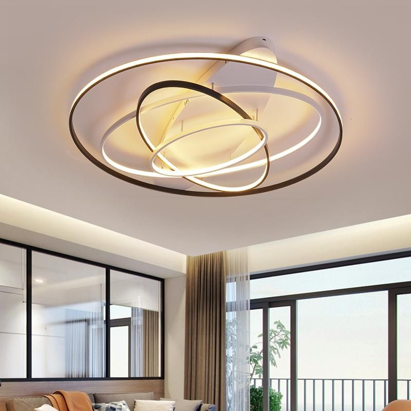 Neo Gleam Round Dimmable Modern Led Ceiling Lights For Living Room