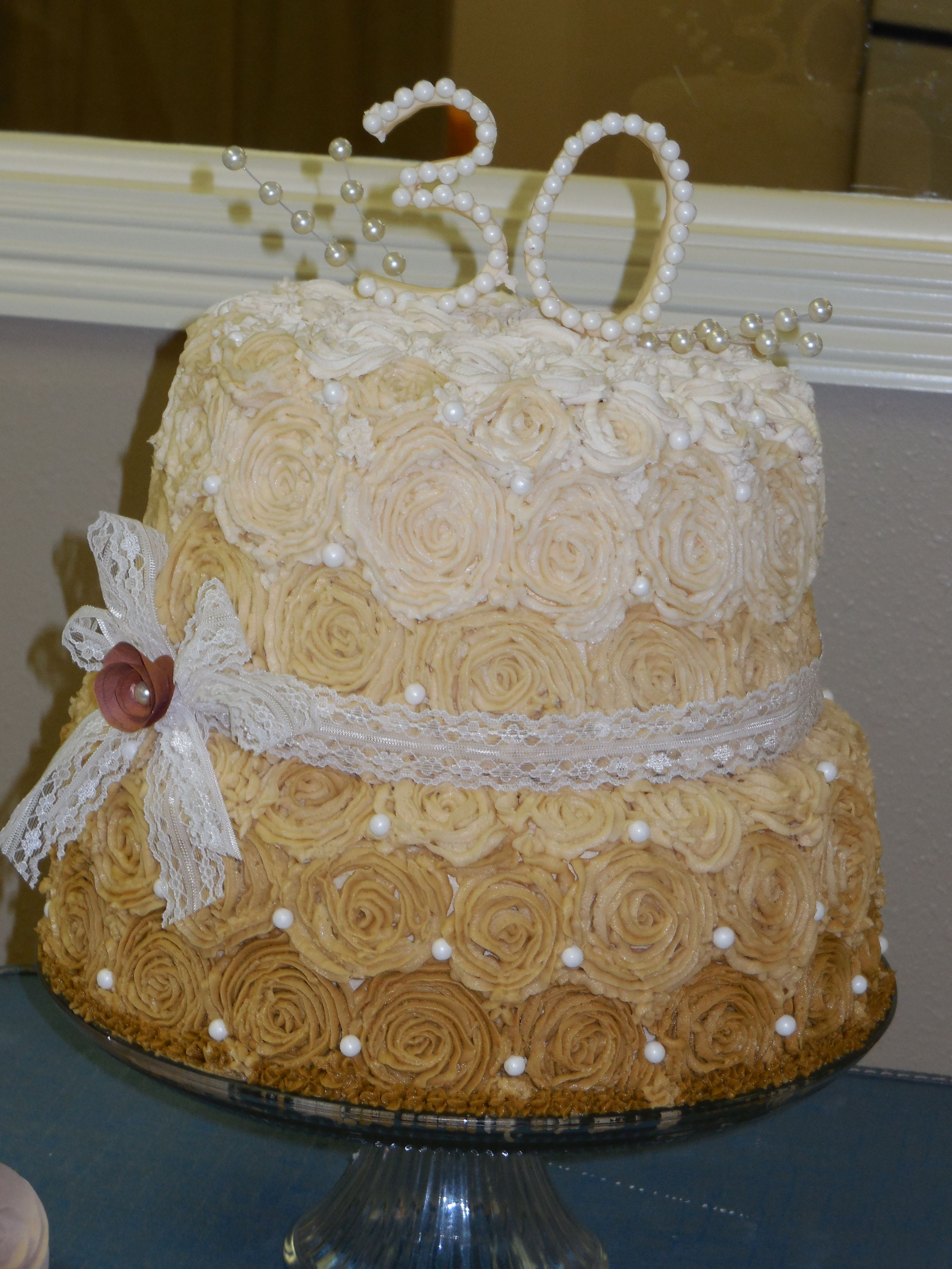 30th anniversary cake | Cakes I made: Cristina | Pinterest | 30th ...