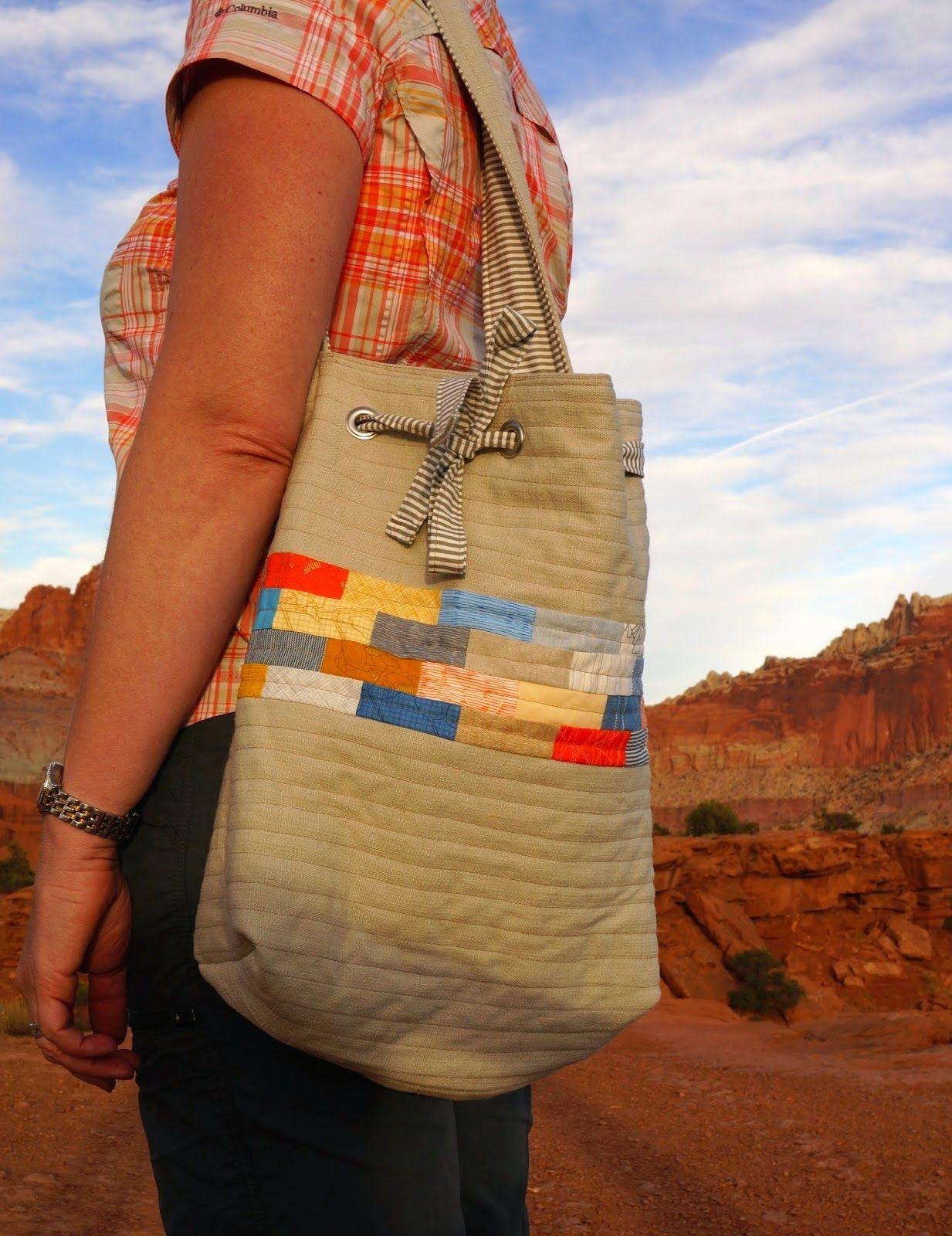Diy drawstring shoulder bag tutorial patchwork bags