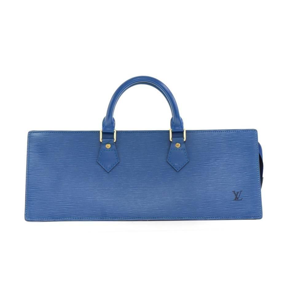 7d52bcf7a085 Louis Vuitton Sac Triangle Blue Epi Leather Hand Bag