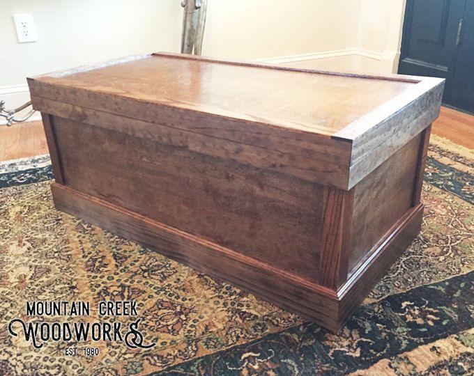 Manta madera pecho, pecho de madera rústica, tronco de madera ...