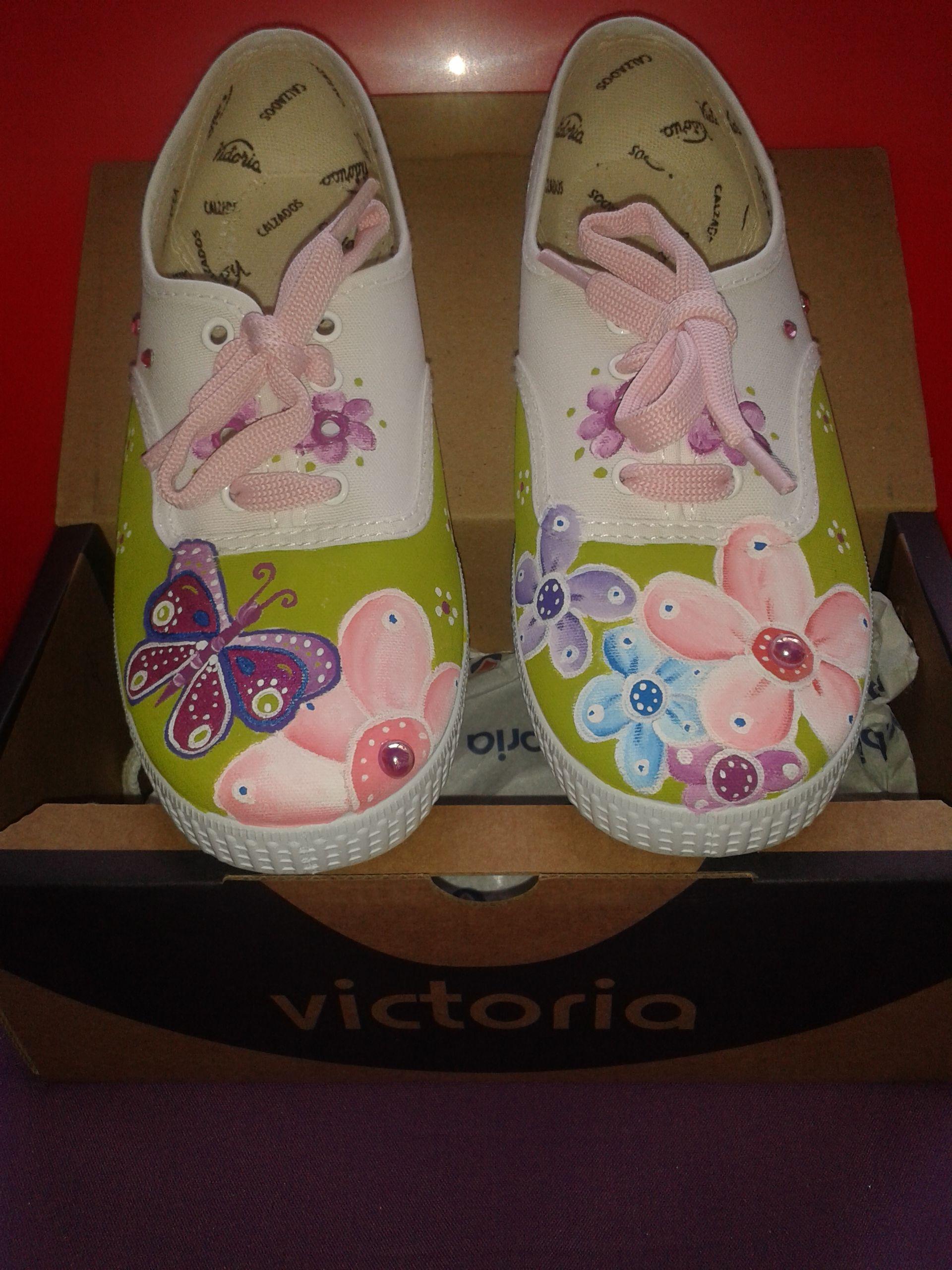 952315ed zapatillas pintadas a mano. Flores | Zapatillas decoradas ...