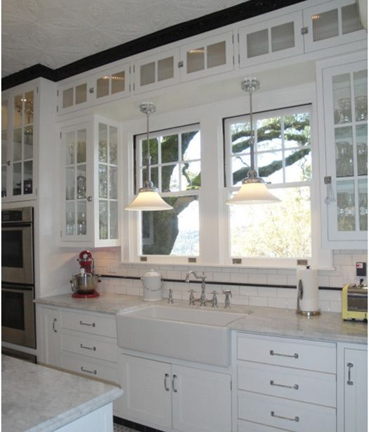 Dream Kitchen Doors: This White Kitchen Remodel Gives A Roaring Nod To The 20s