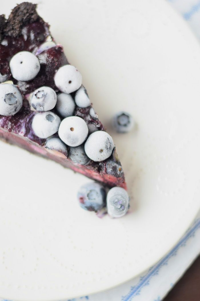 No Bake Oreo Blueberry Tart - No Bake Oreo Blaubeer Tarte #summer #blueberries #food #oreo   Das Knusperstübchen