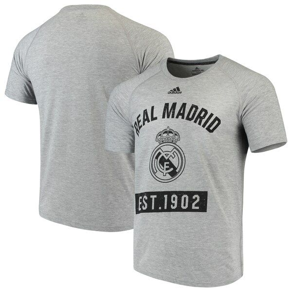 Real Madrid adidas Ultimate Pass T-Shirt- Heathered Gray #RealMadrid When you see your favorite Real Madrid players taking the field on game day your heart begins to race. Communicate your intense fervor to everyone around you when you put on this one-of-a-kind Ultimate Pass T-shirt from adidas. With crisp Real Madrid graphics decorating it there won't be a single doubt in anyone's mind about your steadfast loyalty!