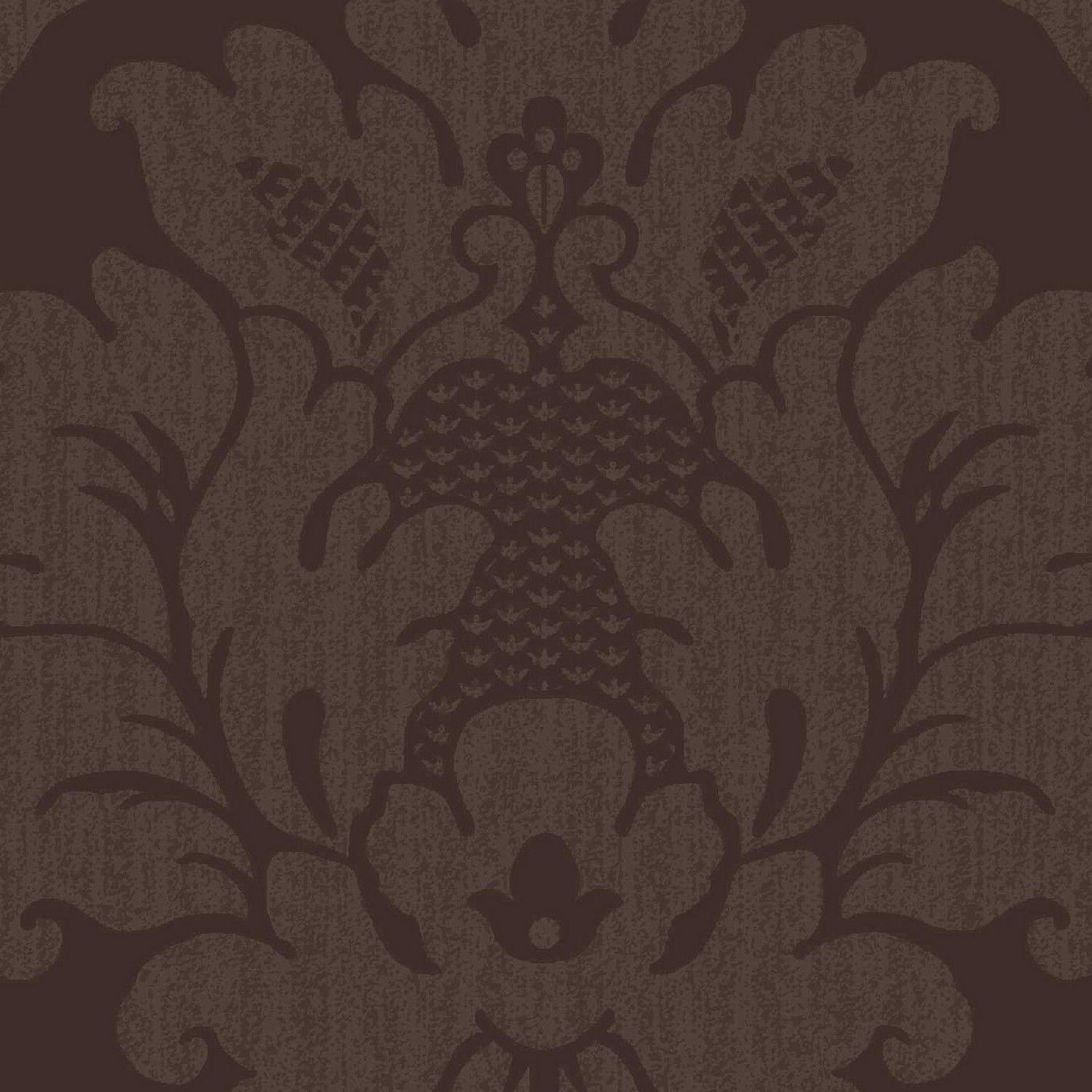 Da Vinci Chocolate Damask Wallpaper By Arthouse LoungeBedrooms