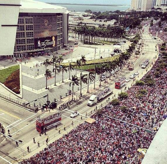 Miami Heat 2013 Championship Parade Miami Heat Basketball Miami Heat South Florida