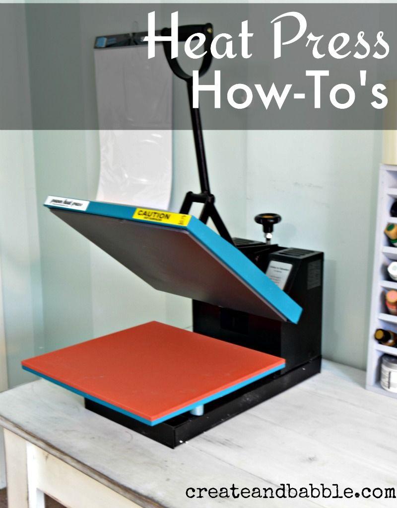 How To Use A Heat Press Heat Press