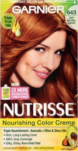Garnier Nutrisse Nourishing Color Creme 643 Light Natural Copper