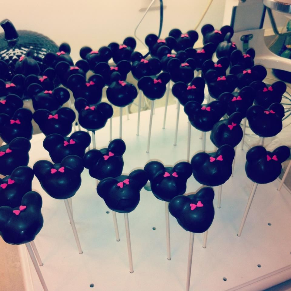 Minnie Mouse Cake Pops! Visit www.facebook.com/sweetsassypops