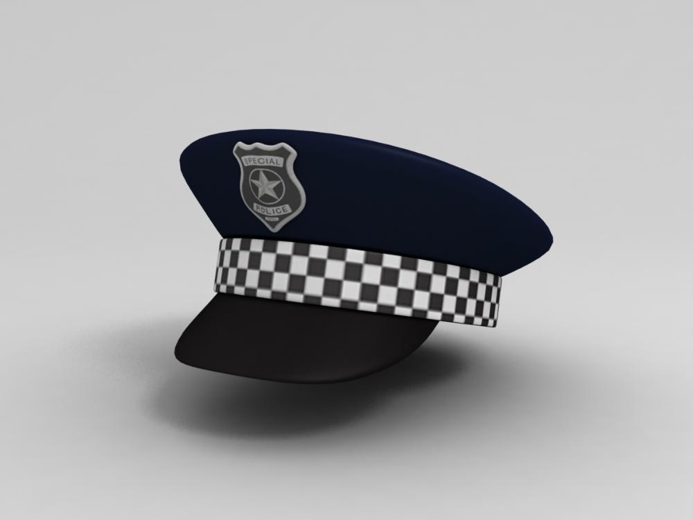 3d Model Police Hat Turbosquid 1245479 Police Hat Hats Buy Hats