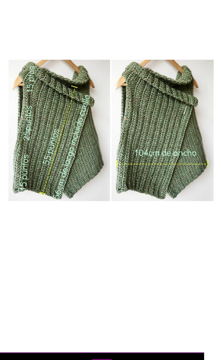 Patrón chaleco (español) | croche para todos | Pinterest | Crochet ...