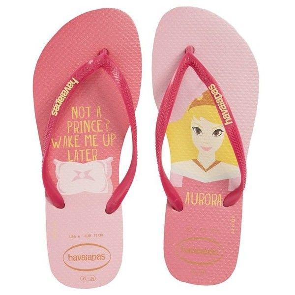 419b6b3bdcb56 Women s Havaiana Slim - Disney Princess Flip Flop ( 30) ❤ liked on Polyvore  featuring shoes