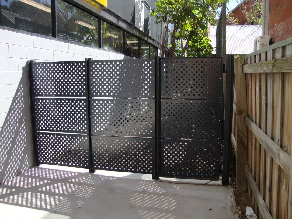 Image Result For Perforated Steel Fence Panels Garden Fence