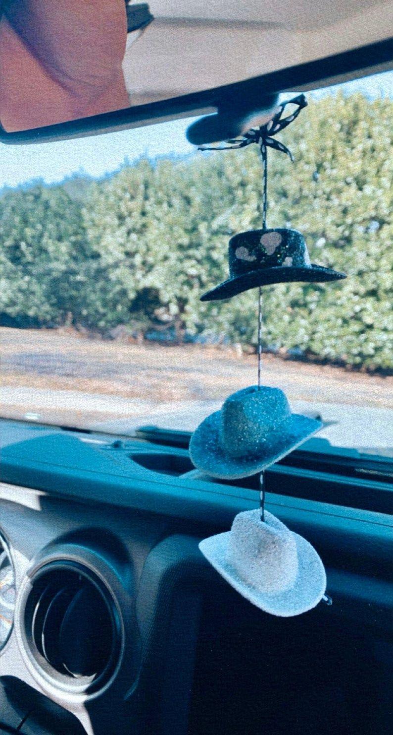 Handmade Cowboy Hat Car Chain Etsy In 2021 Handmade Cowboy Car Chain Red Cow Print