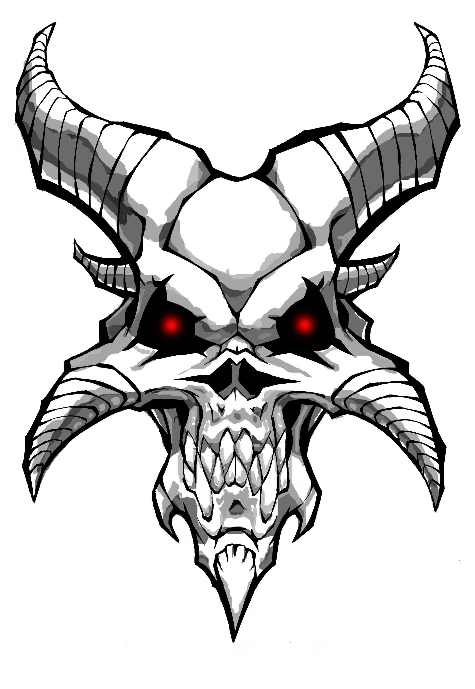 Demon Skull By Williamsquid On Deviantart In 2020 With Images