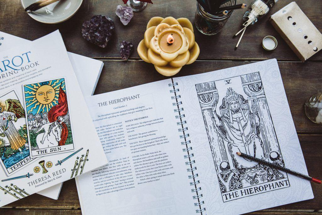 Tarot Coloring Book The Tarot Lady Coloring Books Books Tarot