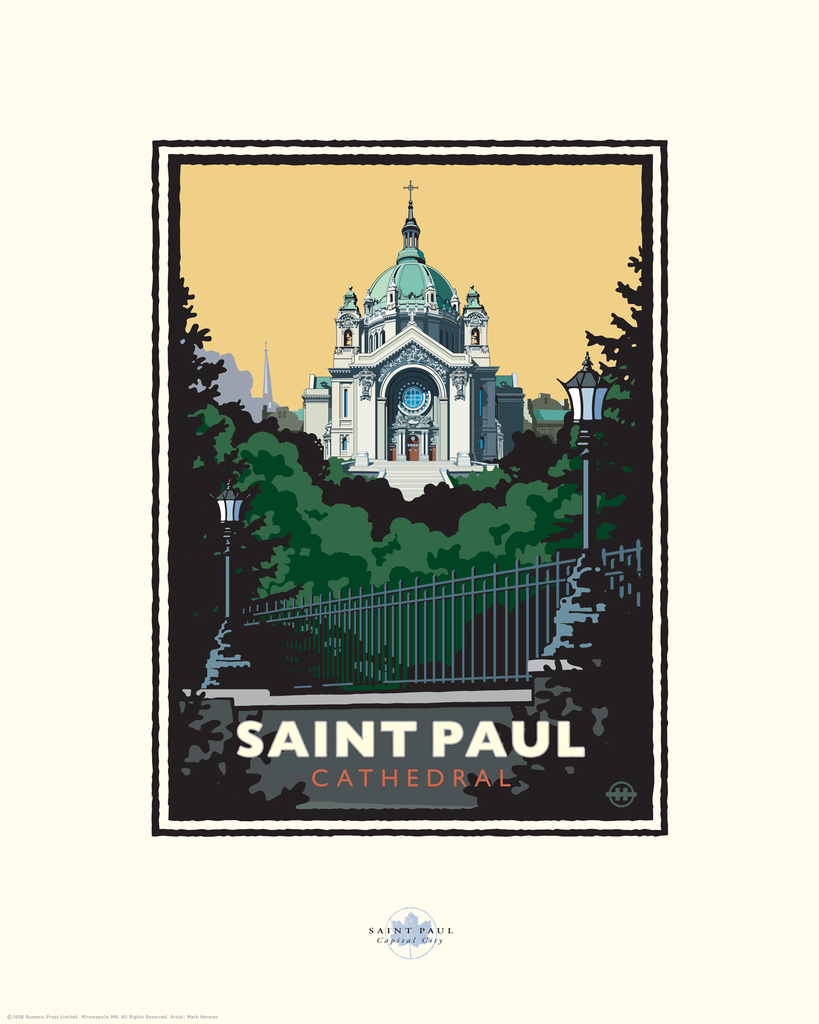 Print St Paul Cathedral St Pauls Cathedral Vintage Poster Art Cathedral