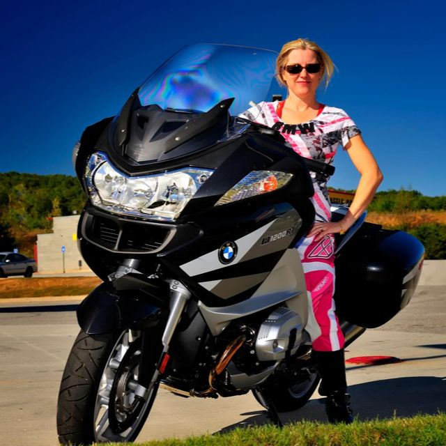 bmw motorcycles on Girls