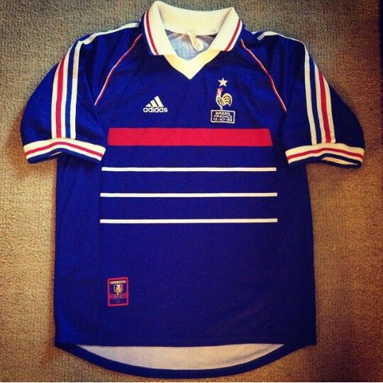 ADIDAS France National Team 1998-2000 Soccer Jersey  d17f9d992