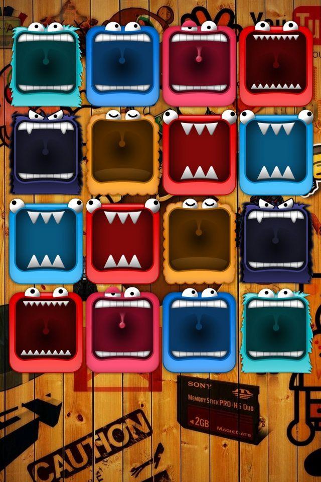 Monster Shelf Mobile9 Iphone 用壁紙 壁紙アート Iphone7 壁紙
