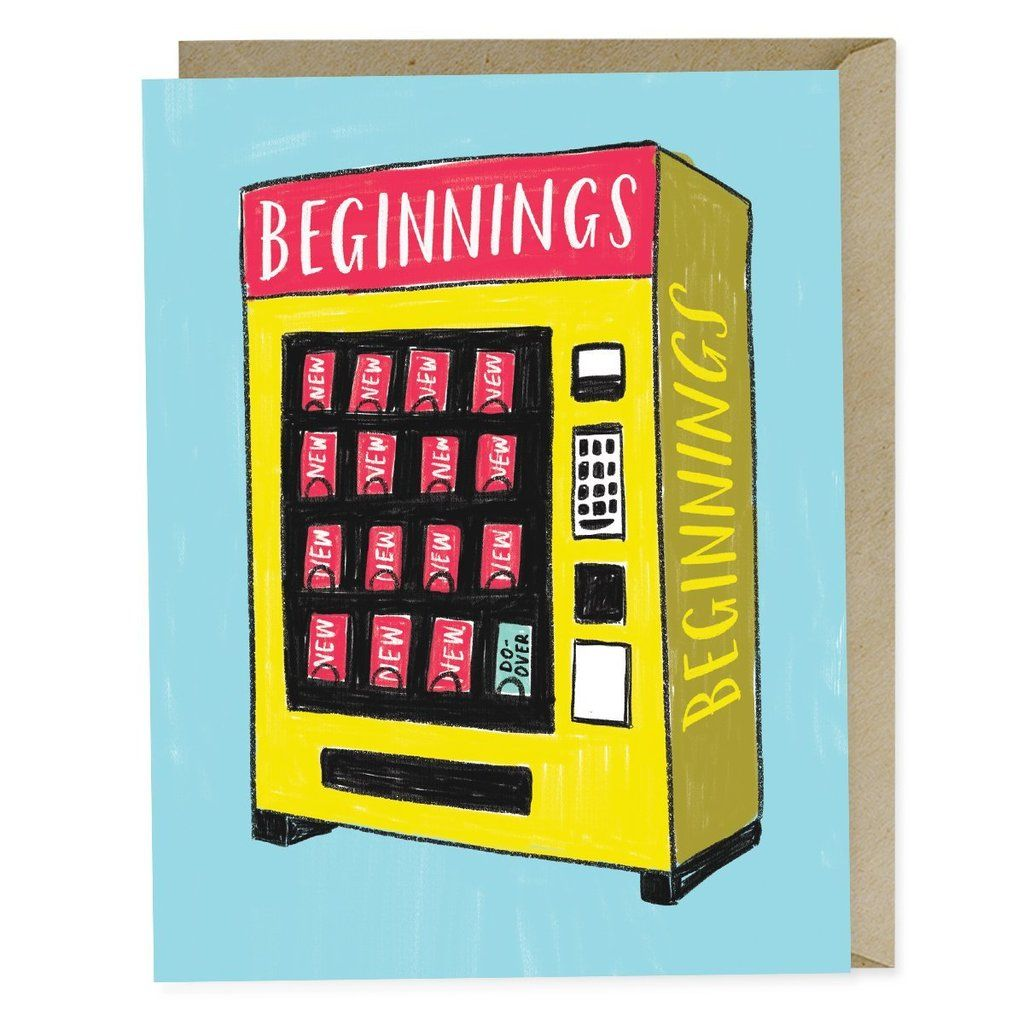 New Beginnings Vending Card New Beginnings Cards Vending Machine
