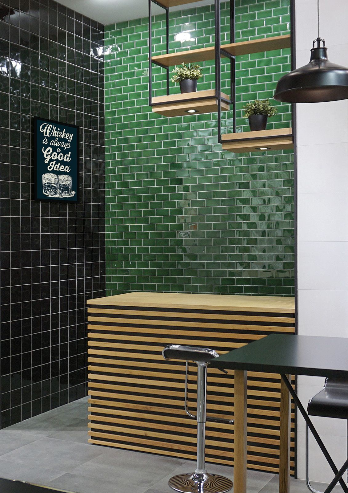 Emerald green tiles from the new Carnival range. Rustic ...