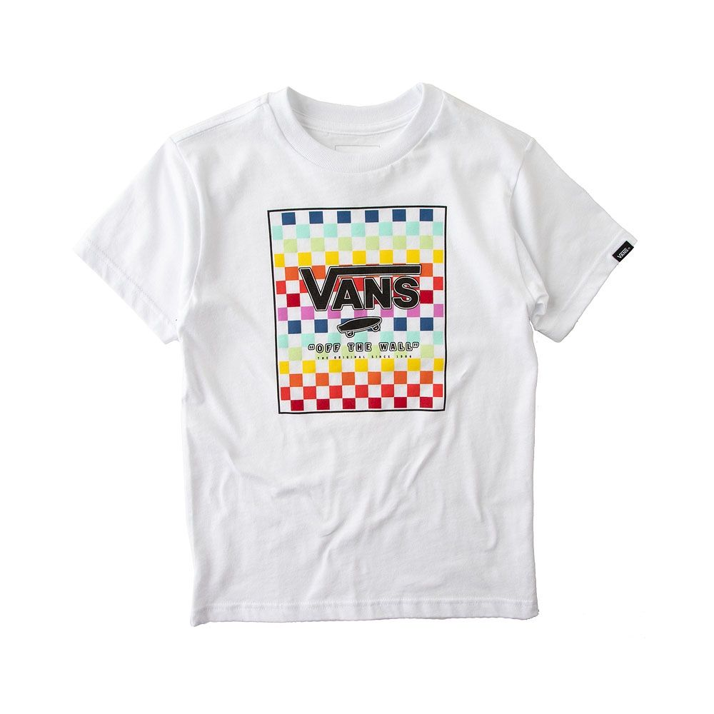 0e43581f9e5f5b Toddler Vans Rainbow Chex Tee - White Multi - 8417