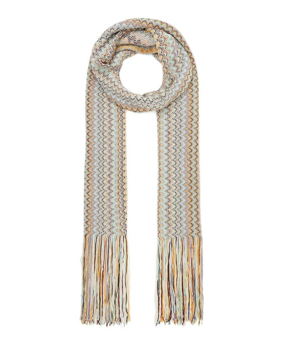 Photo of Missoni Vertical Zig Zag Stripe Cotton-Blend Scarf