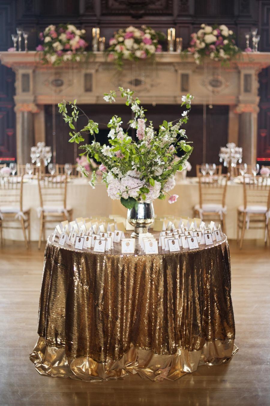 Classy, Elegant And Glamorous Gold Wedding Reception Ideas ...