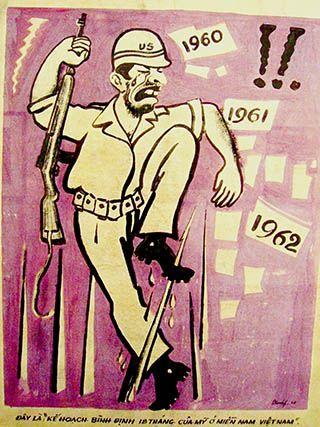 Anti US Propaganda Soldier, 1962, Courtesy Ho Chi Minh City Museum of Fine Arts